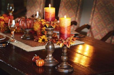 #Autumn Leaf Candlesticks #Thanksgiving #MichaelsStores