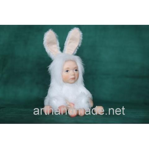 "Teddy doll ""Bunny"". Author Svetlana Bahova - http://arthandmade.net/bahova.svetlana  Doll, teddy, teddy doll, collectible doll, handmade doll, gift, original gift, handmade, craft, collection, Gallery Magical World, кукла, купить куклу, тедди, тедди долл, коллекционная кукла, кукла ручной работы, подарок, оригинальный подарок, ручная работа, коллекция, Галерея Волшебный мир"