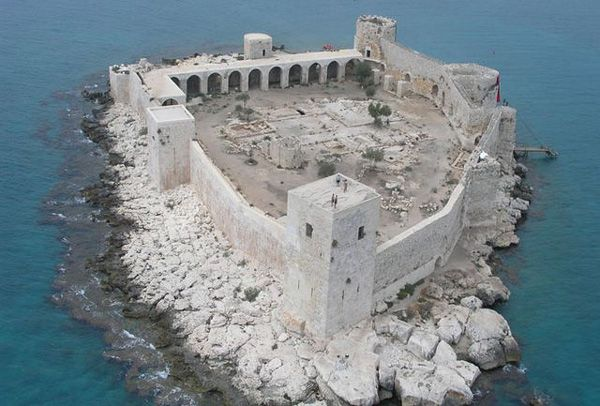 Kizkalesi (Girl's Castle) aka Castle in the Sea, Mersin, Turkey