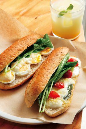 天然酵母パンのサンドイッチ