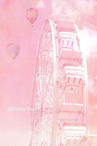 Carnival Prints, Nursery Prints, Pink Baby Girl Ca…