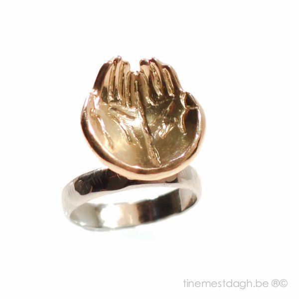 #ring #oudgoud allereerst gestempelde ring met HIBstempel dd 20140203