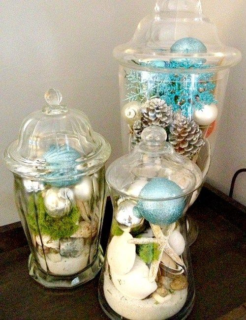 Beach Christmas Decorations & Ideas Inspired by Sea, Sand & Shells                                                                                                                                                                                 More
