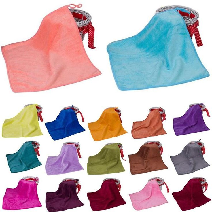 1pcs 25*25cm Microfiber Solid Color Soft Towel Kitchen Hand Towels Toallas Mano Gift 42123
