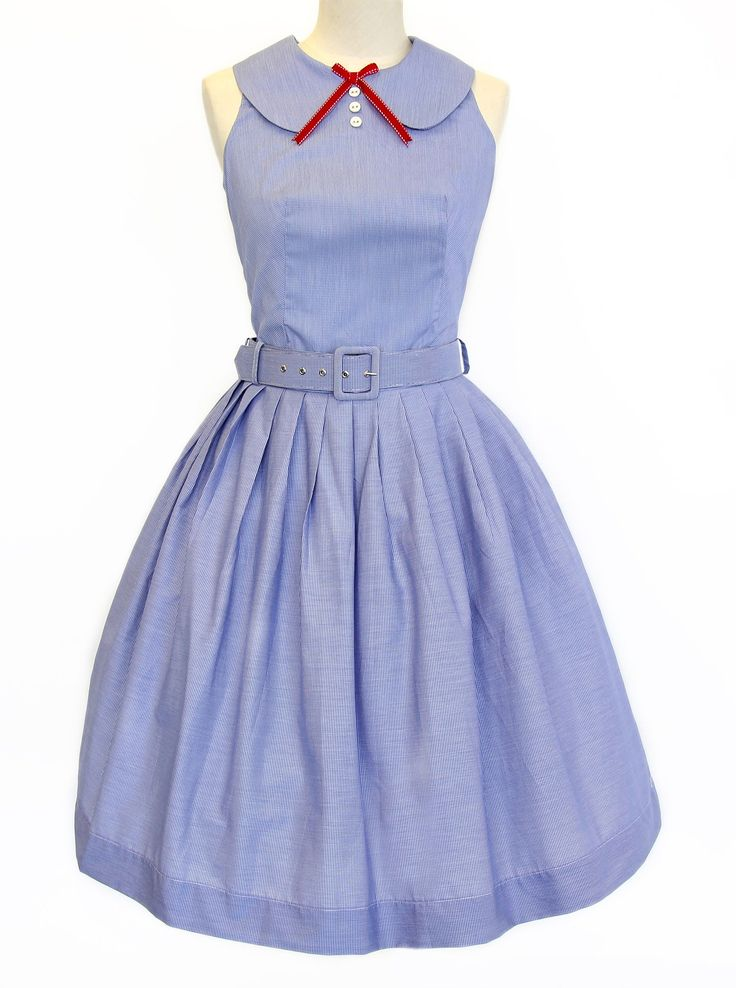 Picnic in Paris Belted Dress - Kitten D'amour