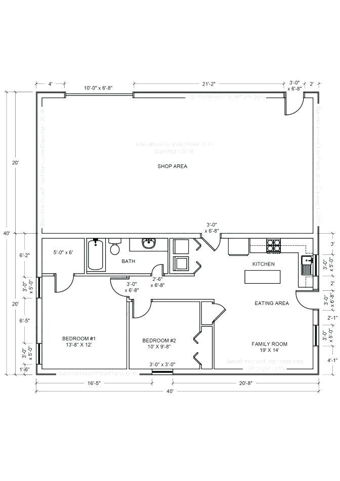 Image Result For House Shop Combo Floor Plans Barn With Living