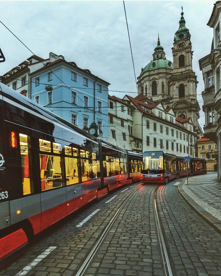 Prague trams. Mala Strana, Prague