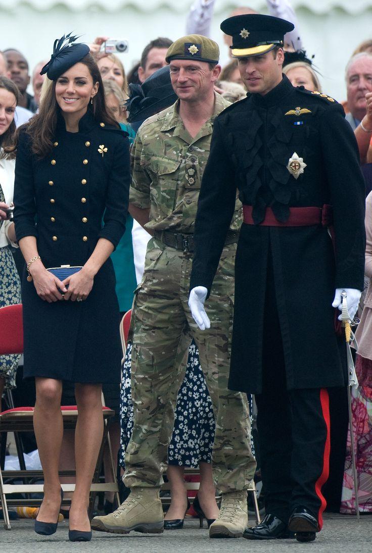 Kate & William - Alexander McQueen Navy Dress Irish Guard Parade 25 June 2011