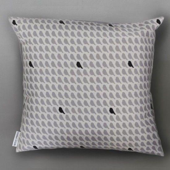 Lorna Syson Flock Storm Cushion   40cm X 40cm