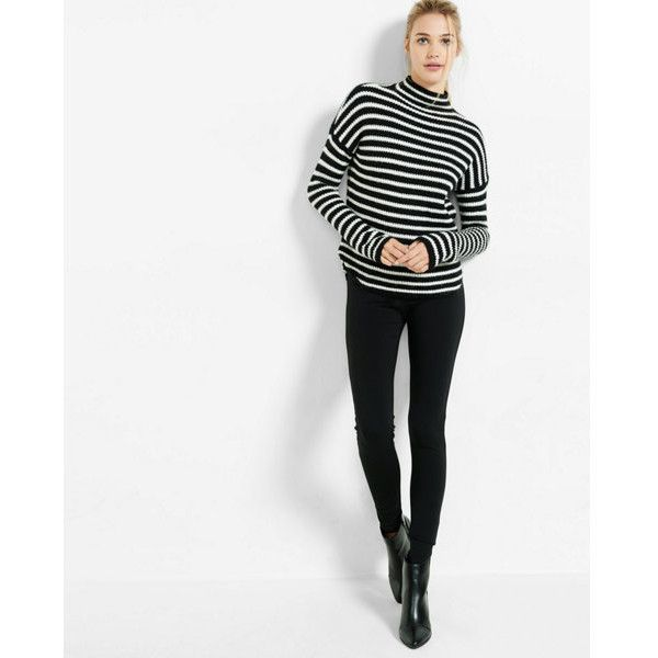 Express Mid Rise Ponte Pull On Legging (51 CAD) ❤ liked on Polyvore featuring pants, leggings, black, stretchy leggings, ponte knit leggings, ponte knit pants, ponte pants and pull on pants