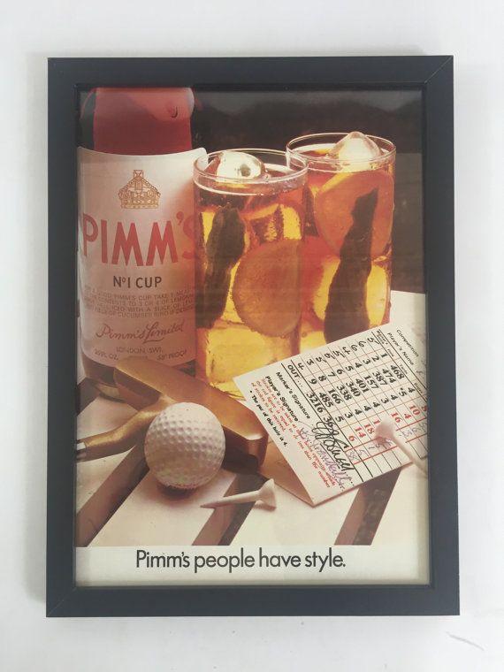 Original Vintage 1975 Pimms Alcohol by VintageOliveLane on Etsy