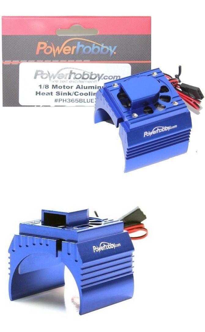 Details About Powerhobby Aluminum Motor Heatsink Cooling Fan For 1 8 Size Motors Blue Cooling Fan Heatsink Motor