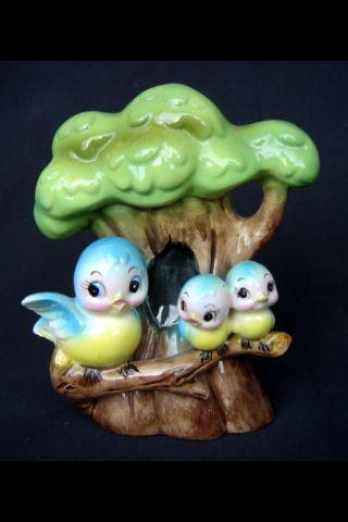 Bluebird in tree bank vintage!