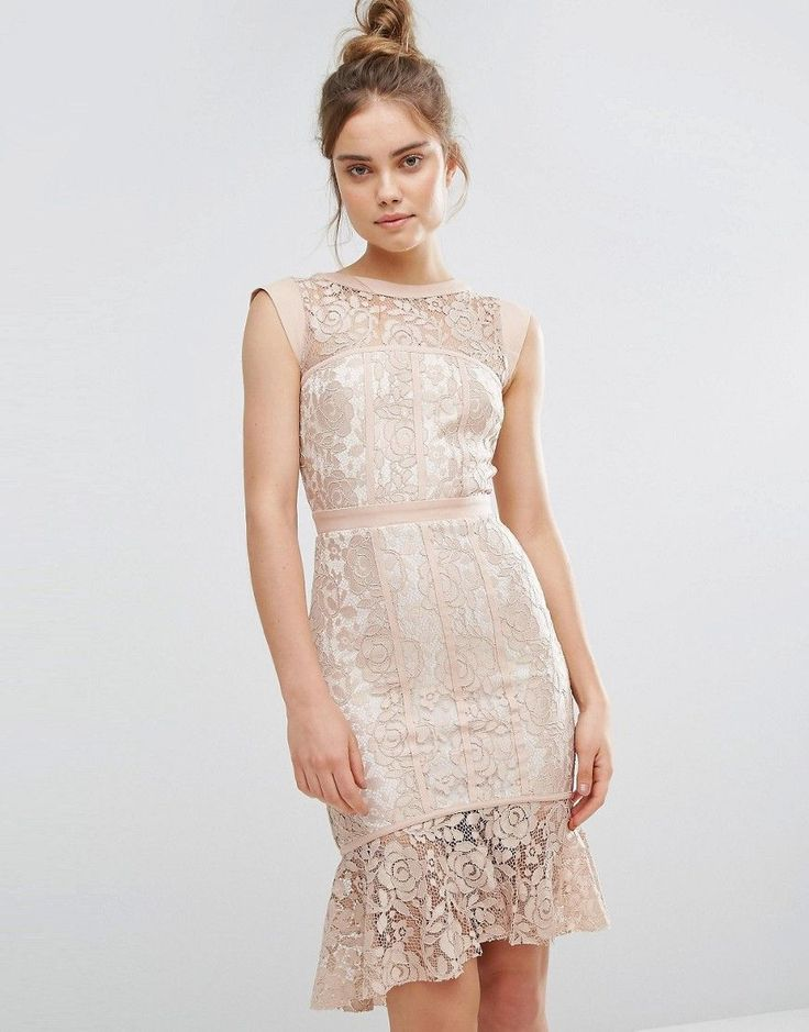 Nude Wedding Guest Style - Nude Dress - Nude Cocktail dress