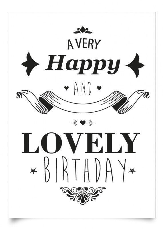 Happy & lovely birthday