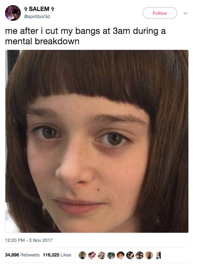 """Stress Level: Winona Ryder in every single scene of Stranger Things."""