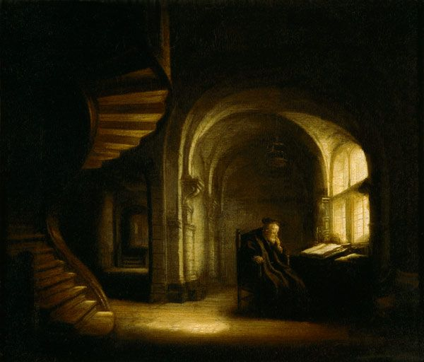Rembrandt van Rijn - Philosopher with an Open Book