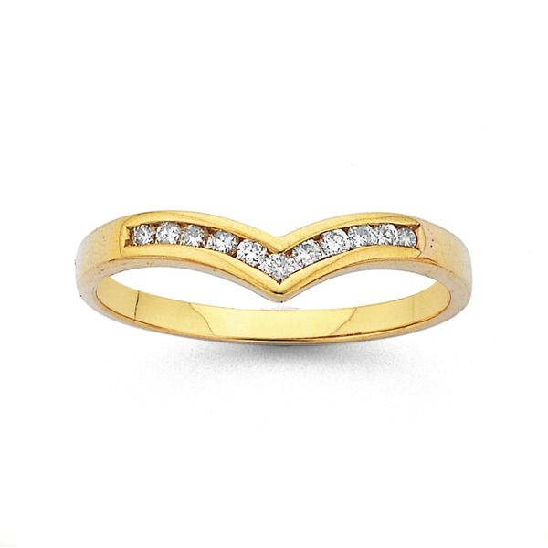 9ct Gold Diamond Band