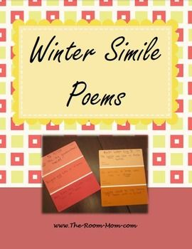 Using a group of words related to one theme or topic, students create 3 similes and combine the similes into a poem. Word groups for MLK Day, winter, Valentine's Day, and President's Day (freebie)  The teacher has the option to give all students the same list of words, so the class will create a group of simile poems centered around the same theme.