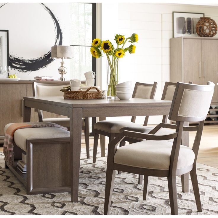 Highline Dining Set With Upholstered Bench By Rachael Ray Home
