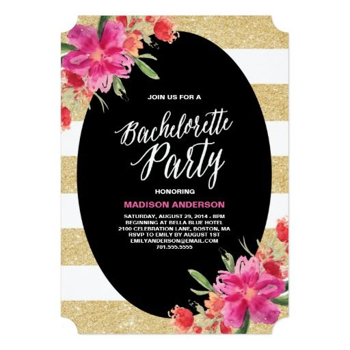 Best Bachelorette Party Invitations Images On