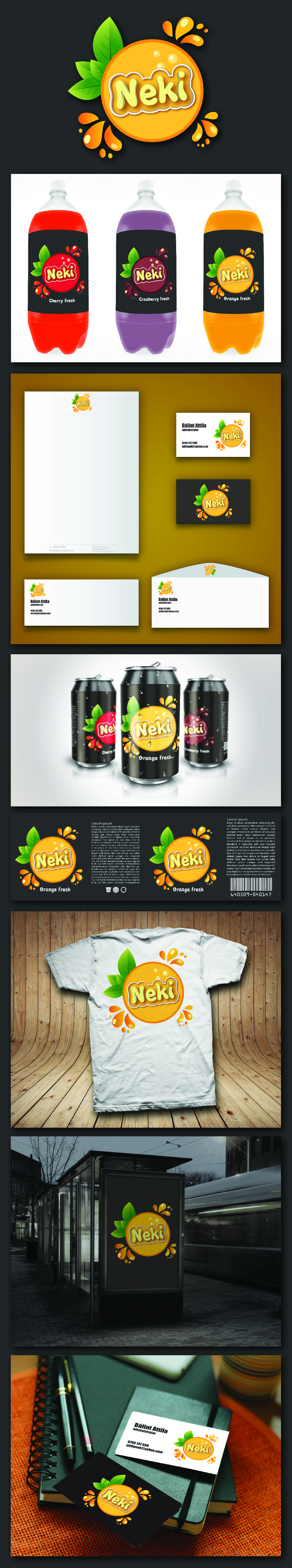 Brand identity for NEKI Drinks