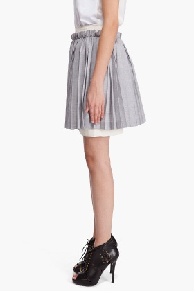 pleated comme des garcons skirt