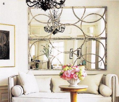 Design Manifest: what goes above the sofa... Mirrors!