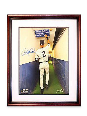 Steiner Sports Derek Jeter Autographed 16 X 20 Framed Photograph - No