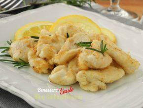 Bocconcini di pollo al Limone, ricetta light, gustosi bocconcini di pollo cotti in padella con pochissimo olio. Ricetta veloce