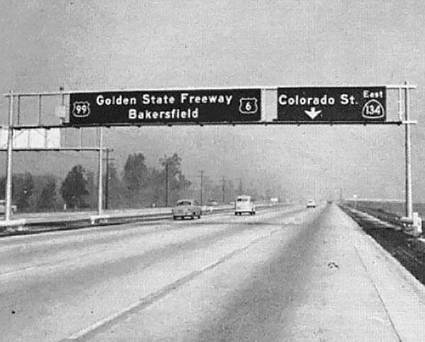 California U S Highway 6 U S Highway 99 And State Highway 134 California History Bakersfield California Los Angeles History