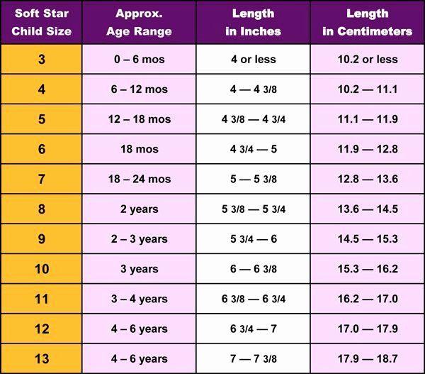 Baby shoe size chart, Shoe size chart