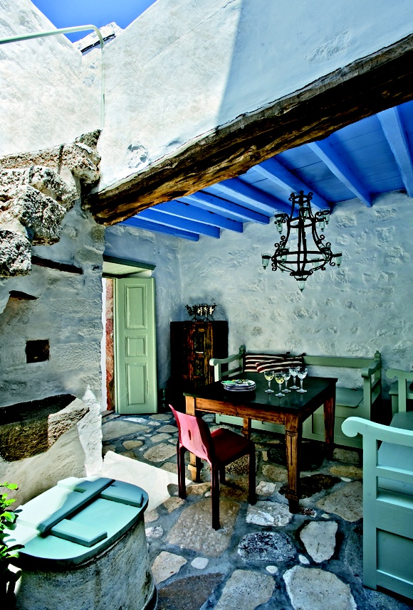 House in Patmos, Greece I would love to have a patio like this one day
