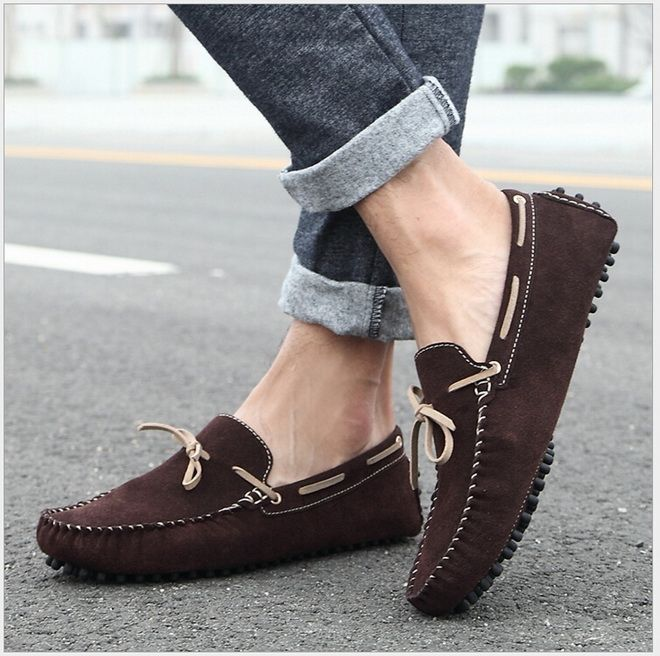 29.80$  Watch here - 2017 Spring Fashion Men Shoes Men Casual loafers Driving Moccasins Shoes Men Flat Shoes Genuine Leather Flats shoes  #magazineonline