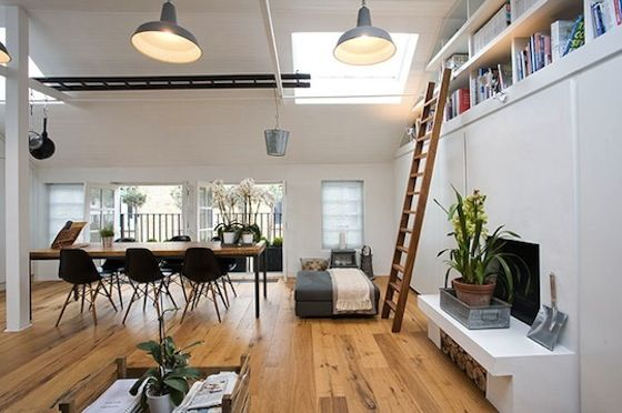 Old garage turned lovely home in the UK