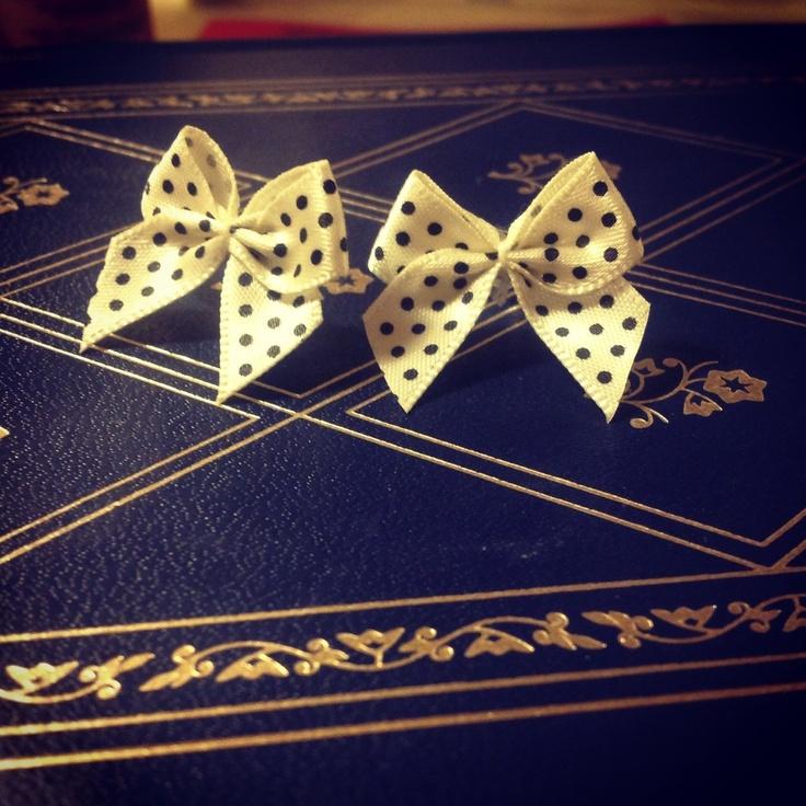 Polka Dot Earrings via WishStrings. Click on the image to see more!