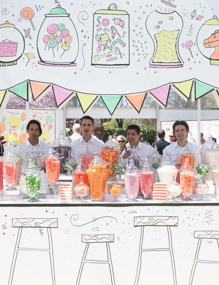 Candy land at Hermes store opening in Greenwich, CT.