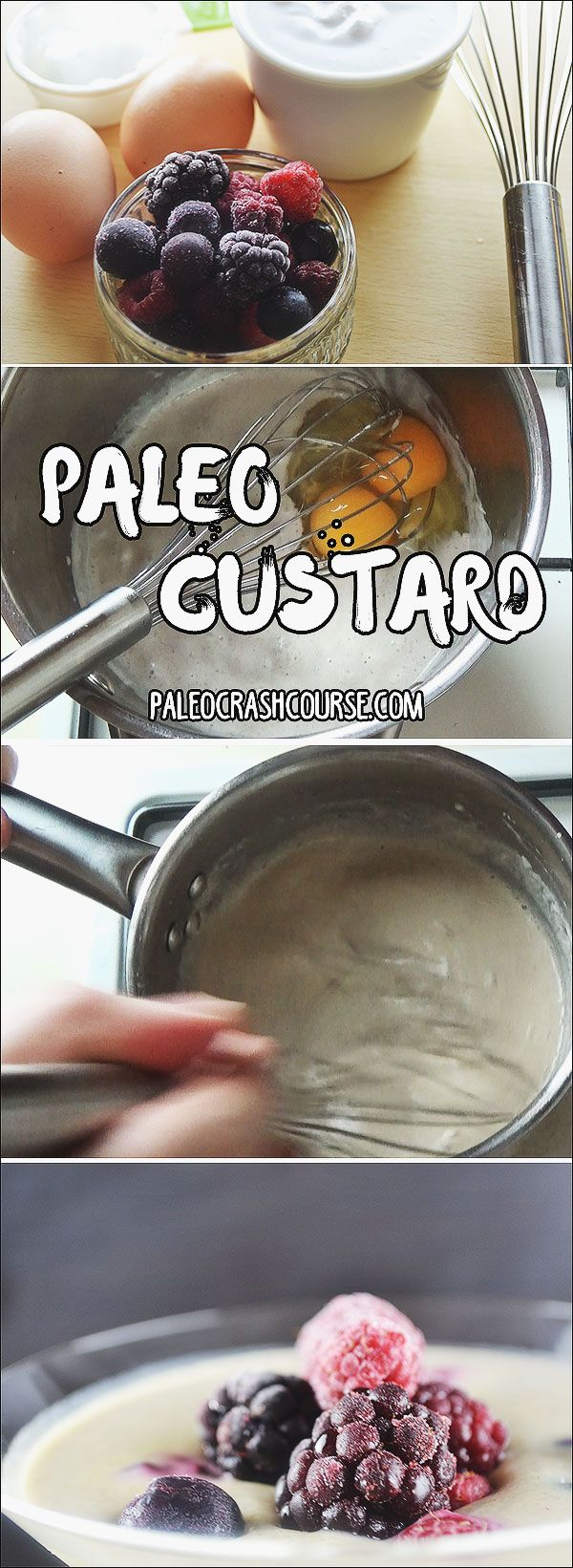 A yummy paleo custard recipe that makes for a great dessert or even breakfast!   http://paleocrashcourse.com/paleo-custard/