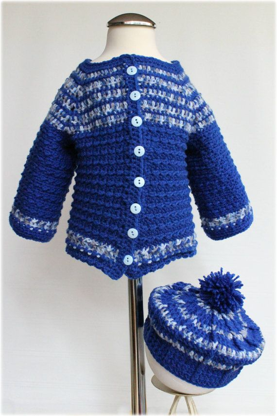 Little Mr. Preppy Sweater and hat by TrippleRcreations on Etsy