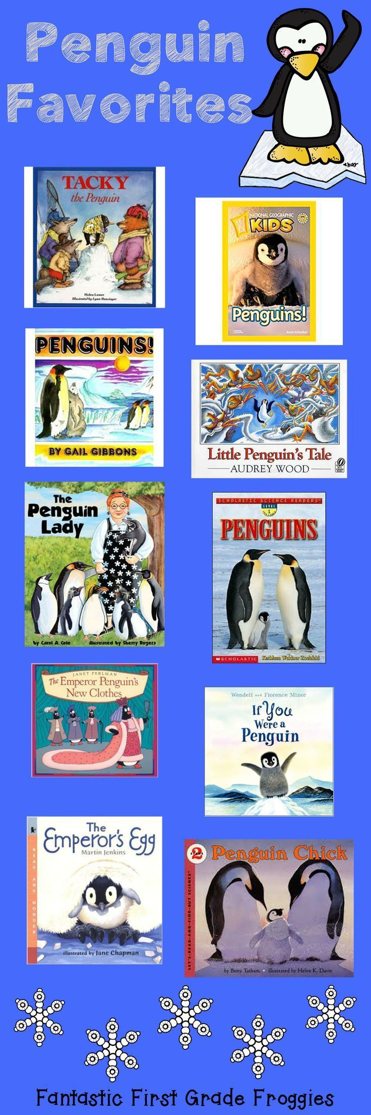 Some of my favorite nonfiction and fiction penguin books, from Fantastic First Grade Froggies. I love, love, love The Emperor's Egg!