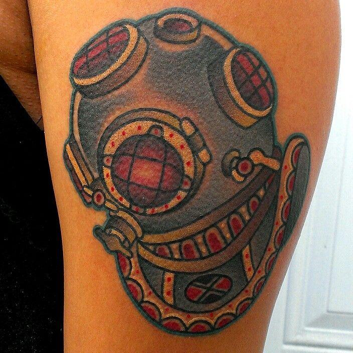 scuba diving tattoo deep sea diving diver tattoos and body modifications pinterest. Black Bedroom Furniture Sets. Home Design Ideas