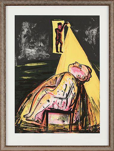 "Lena Cronqvist: Ur ""Ett Drömspel"", litografi, 70x51 cm, edition 36/170 - Bukowskis Market 12/2012"