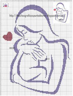 GRAFICOS PUNTO DE CRUZ GRATIS : MADRE Y BEBE(12)