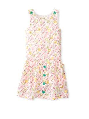 59% OFF Peas & Queues Kid's Cabana Dress (Spring Floral)