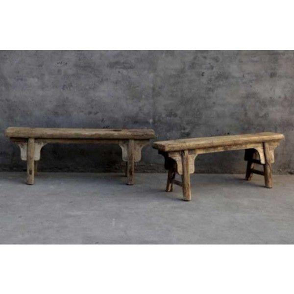 Antique Bench With Heavy Grain - Benker og Puffer - Stue - Nettbutikk