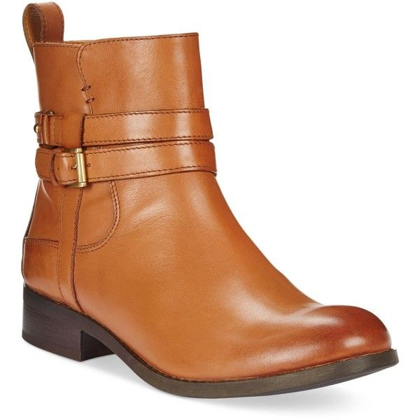 Clarks Artisan Women's Pita Austin Booties ($160) ❤ liked on Polyvore featuring shoes, boots, ankle booties, dark tan leather, slip on leather boots, tan ankle booties, slip on boots, genuine leather boots and clarks boots