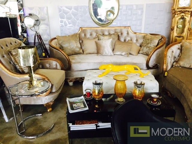 Vernazza   3pc Victorian Luxury Italian Style Living Room Set
