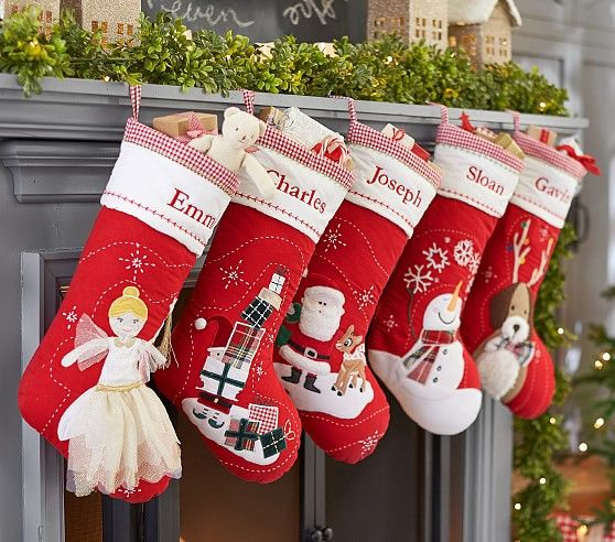 Quilted Stocking Collection Christmas Stockings Quilted