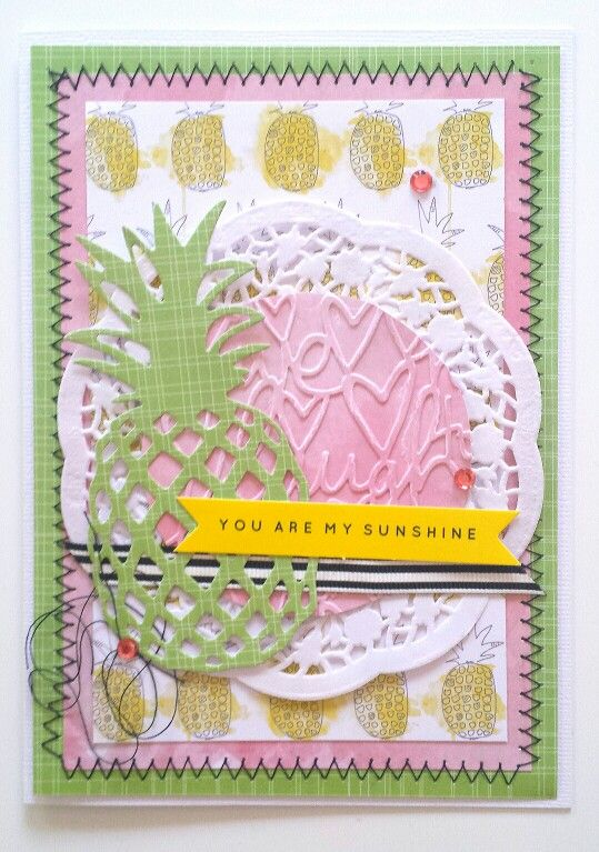 Kaisercraft December Card Challenge: My Year, My Story collection card by Amanda Baldwin | Kaisercraft DD353 Pineapple