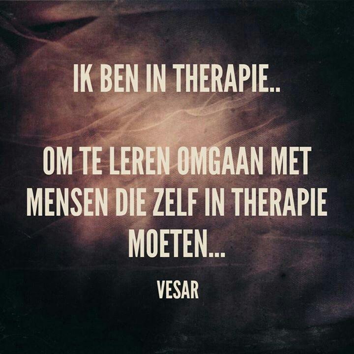 Ik Ben In Therapie... Om Te Leren Omgaan Met Mensen Die